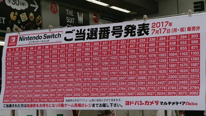 抽選 ヨドバシ switch